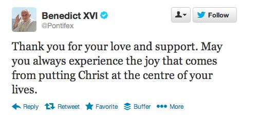 Pope's Last Tweet
