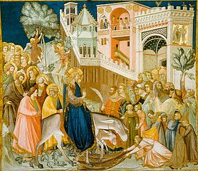 Entry of Christ into Jerusalem (1320) by Pietro Lorenzetti