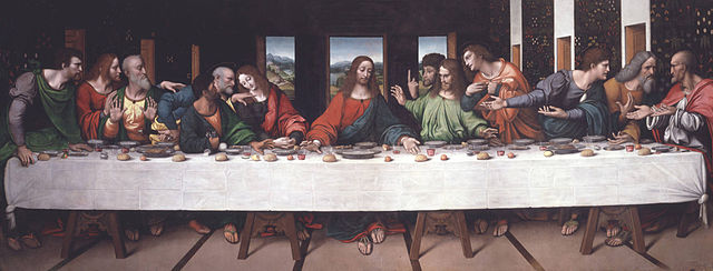 The Last Supper, ca. 1520, by Giampietrino (Giovanni Pietro Rizzoli)