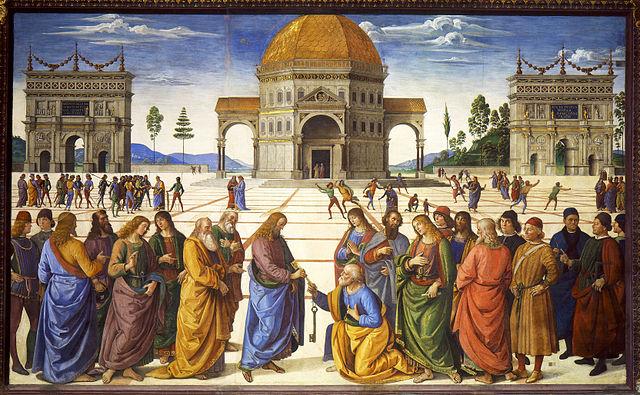 Christ Giving the Keys to St. Peter, Pietro Perugino