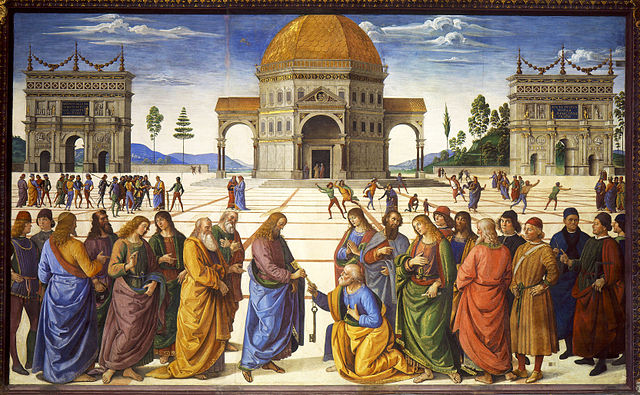 Christ Giving the Keys to St. Peter, Pietro Perugino