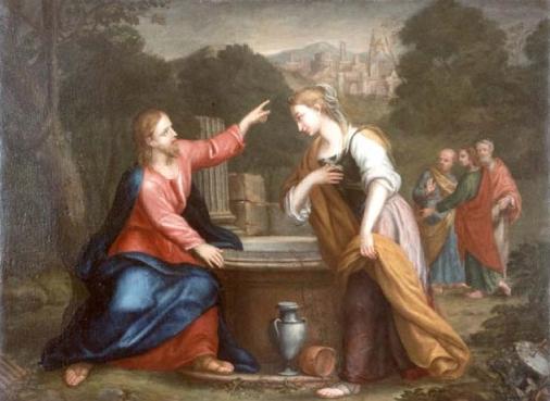 Franceschini, Giacomo Gesù e la Samaritana al pozzo