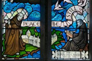 Christ Calming the Storm with St Seiriol and St Cybi (courtesy of Stained Glass in Wales)
