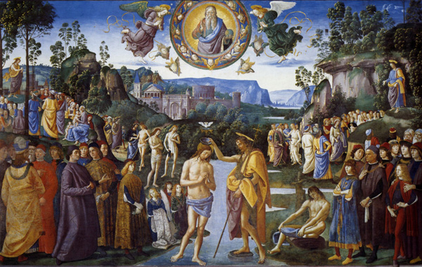 Baptism of Christ - Pietro Perugino