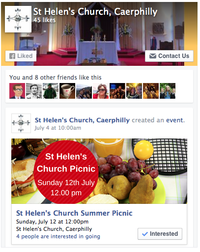 St Helen's Caerphilly Facebook page